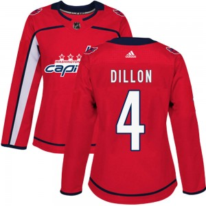 Washington Capitals Brenden Dillon Official Red Adidas Authentic Women's ized Home NHL Hockey Jersey