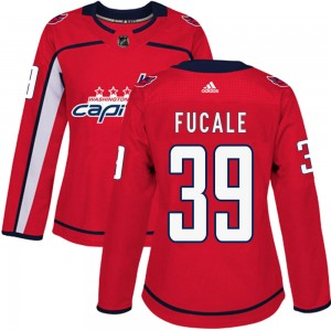 Washington Capitals Zach Fucale Official Red Adidas Authentic Women's Home NHL Hockey Jersey