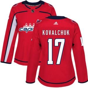 Washington Capitals Ilya Kovalchuk Official Red Adidas Authentic Women's ized Home NHL Hockey Jersey