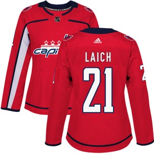 Washington Capitals Brooks Laich Official Red Adidas Authentic Women's Home NHL Hockey Jersey