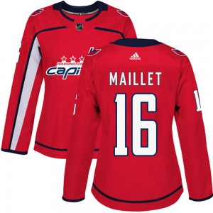 Washington Capitals Philippe Maillet Official Red Adidas Authentic Women's ized Home NHL Hockey Jersey