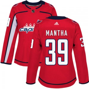 Washington Capitals Anthony Mantha Official Red Adidas Authentic Women's Home NHL Hockey Jersey