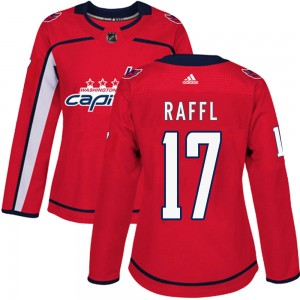 Washington Capitals Michael Raffl Official Red Adidas Authentic Women's Home NHL Hockey Jersey