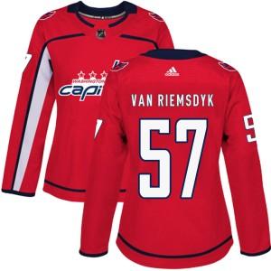 Washington Capitals Trevor van Riemsdyk Official Red Adidas Authentic Women's Home NHL Hockey Jersey