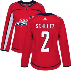 Washington Capitals Justin Schultz Official Red Adidas Authentic Women's Home NHL Hockey Jersey