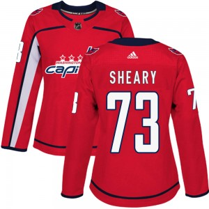 Washington Capitals Conor Sheary Official Red Adidas Authentic Women's Home NHL Hockey Jersey