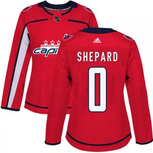 Washington Capitals Hunter Shepard Official Red Adidas Authentic Women's Home NHL Hockey Jersey
