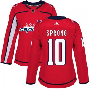 Washington Capitals Daniel Sprong Official Red Adidas Authentic Women's ized Home NHL Hockey Jersey
