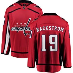 Washington Capitals Nicklas Backstrom Official Red Fanatics Branded Breakaway Youth Home NHL Hockey Jersey