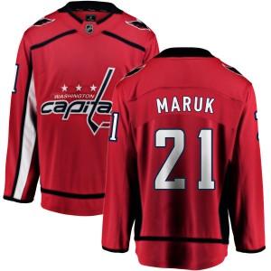 Washington Capitals Dennis Maruk Official Red Fanatics Branded Breakaway Adult Home NHL Hockey Jersey