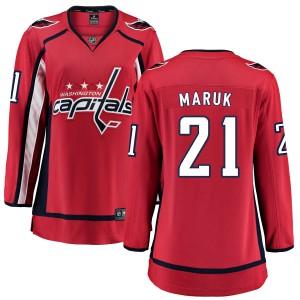 Washington Capitals Dennis Maruk Official Red Fanatics Branded Breakaway Women's Home NHL Hockey Jersey