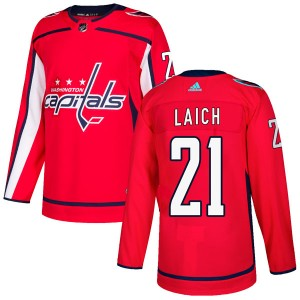 Washington Capitals Brooks Laich Official Red Adidas Authentic Youth Home NHL Hockey Jersey
