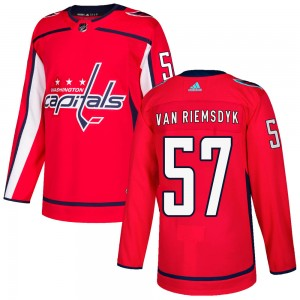 Washington Capitals Trevor van Riemsdyk Official Red Adidas Authentic Youth Home NHL Hockey Jersey