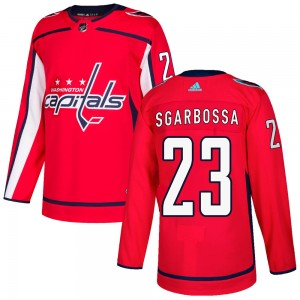 Washington Capitals Michael Sgarbossa Official Red Adidas Authentic Youth Home NHL Hockey Jersey