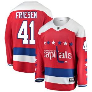 Washington Capitals Jeff Friesen Official Red Fanatics Branded Breakaway Adult Alternate NHL Hockey Jersey