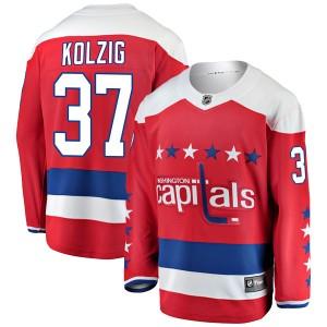Washington Capitals Olaf Kolzig Official Red Fanatics Branded Breakaway Adult Alternate NHL Hockey Jersey