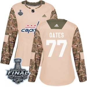 Washington Capitals Adam Oates Official Camo Adidas Authentic Women's Veterans Day Practice 2018 Stanley Cup Final Patch NHL Hoc