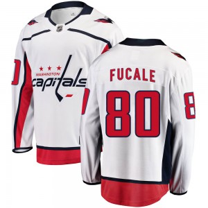 Washington Capitals Zach Fucale Official White Fanatics Branded Breakaway Adult Away NHL Hockey Jersey