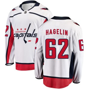 Washington Capitals Carl Hagelin Official White Fanatics Branded Breakaway Adult Away NHL Hockey Jersey