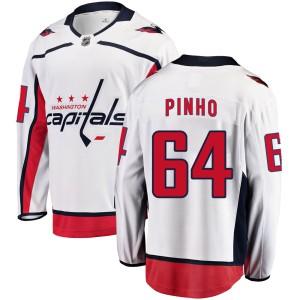 Washington Capitals Brian Pinho Official White Fanatics Branded Breakaway Adult ized Away NHL Hockey Jersey