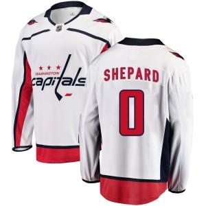 Washington Capitals Hunter Shepard Official White Fanatics Branded Breakaway Adult Away NHL Hockey Jersey