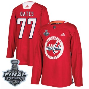 Washington Capitals Adam Oates Official Red Adidas Authentic Adult Practice 2018 Stanley Cup Final Patch NHL Hockey Jersey