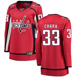 Washington Capitals Zdeno Chara Official Red Fanatics Branded Breakaway Women's Home NHL Hockey Jersey