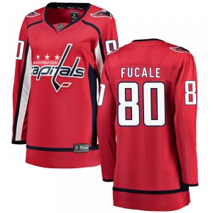 Washington Capitals Zach Fucale Official Red Fanatics Branded Breakaway Women's Home NHL Hockey Jersey