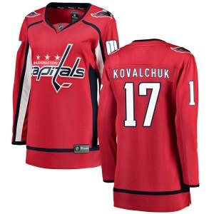 Washington Capitals Ilya Kovalchuk Official Red Fanatics Branded Breakaway Women's ized Home NHL Hockey Jersey