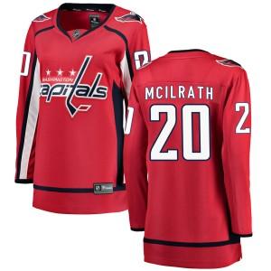 Washington Capitals Dylan McIlrath Official Red Fanatics Branded Breakaway Women's Home NHL Hockey Jersey