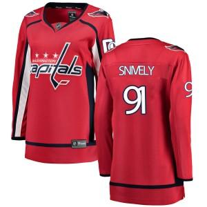 Washington Capitals Joe Snively Official Red Fanatics Branded Breakaway Women's Home NHL Hockey Jersey