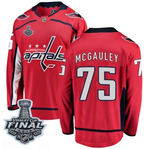 Washington Capitals Tim McGauley Official Red Fanatics Branded Breakaway Adult Home 2018 Stanley Cup Final Patch NHL Hockey Jers