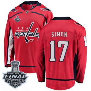 Washington Capitals Chris Simon Official Red Fanatics Branded Breakaway Adult Home 2018 Stanley Cup Final Patch NHL Hockey Jerse