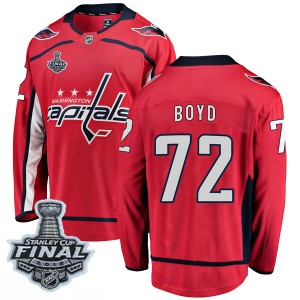 Washington Capitals Travis Boyd Official Red Fanatics Branded Breakaway Youth Home 2018 Stanley Cup Final Patch NHL Hockey Jerse