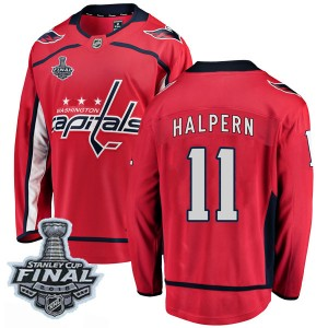 Washington Capitals Jeff Halpern Official Red Fanatics Branded Breakaway Youth Home 2018 Stanley Cup Final Patch NHL Hockey Jers