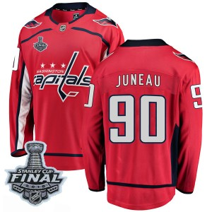 Washington Capitals Joe Juneau Official Red Fanatics Branded Breakaway Youth Home 2018 Stanley Cup Final Patch NHL Hockey Jersey