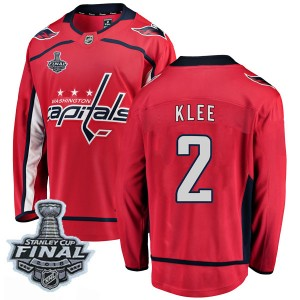 Washington Capitals Ken Klee Official Red Fanatics Branded Breakaway Youth Home 2018 Stanley Cup Final Patch NHL Hockey Jersey