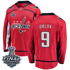 Washington Capitals Dmitry Orlov Official Red Fanatics Branded Breakaway Youth Home 2018 Stanley Cup Final Patch NHL Hockey Jers