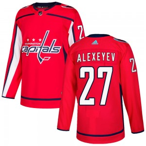 Washington Capitals Alexander Alexeyev Official Red Adidas Authentic Adult ized Home NHL Hockey Jersey
