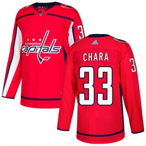 Washington Capitals Zdeno Chara Official Red Adidas Authentic Adult Home NHL Hockey Jersey