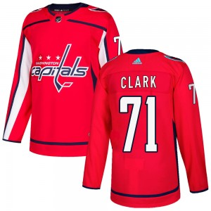 Washington Capitals Kody Clark Official Red Adidas Authentic Adult Home NHL Hockey Jersey
