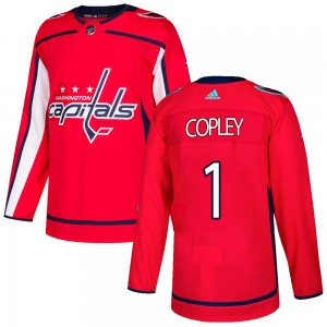 Washington Capitals Pheonix Copley Official Red Adidas Authentic Adult Home NHL Hockey Jersey