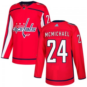 Washington Capitals Connor McMichael Official Red Adidas Authentic Adult Home NHL Hockey Jersey