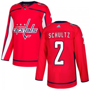 Washington Capitals Justin Schultz Official Red Adidas Authentic Adult Home NHL Hockey Jersey