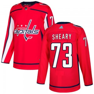 Washington Capitals Conor Sheary Official Red Adidas Authentic Adult Home NHL Hockey Jersey
