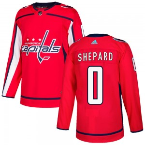Washington Capitals Hunter Shepard Official Red Adidas Authentic Adult Home NHL Hockey Jersey