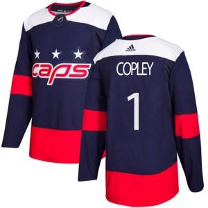 Washington Capitals Pheonix Copley Official Navy Blue Adidas Authentic Adult 2018 Stadium Series NHL Hockey Jersey