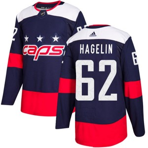 Washington Capitals Carl Hagelin Official Navy Blue Adidas Authentic Adult 2018 Stadium Series NHL Hockey Jersey
