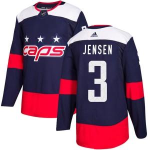 Washington Capitals Nick Jensen Official Navy Blue Adidas Authentic Adult 2018 Stadium Series NHL Hockey Jersey