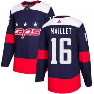 Washington Capitals Philippe Maillet Official Navy Blue Adidas Authentic Adult ized 2018 Stadium Series NHL Hockey Jersey
